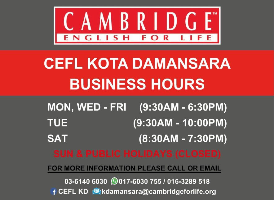 Cambridge English For Life, Kota Damansara