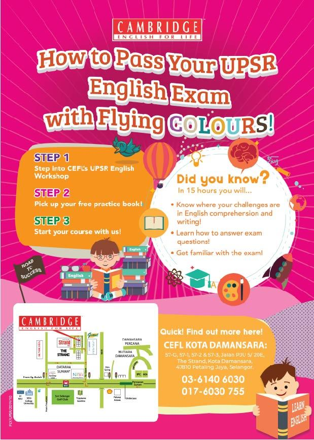 UPSR English Examination Preparation Workshop 2019