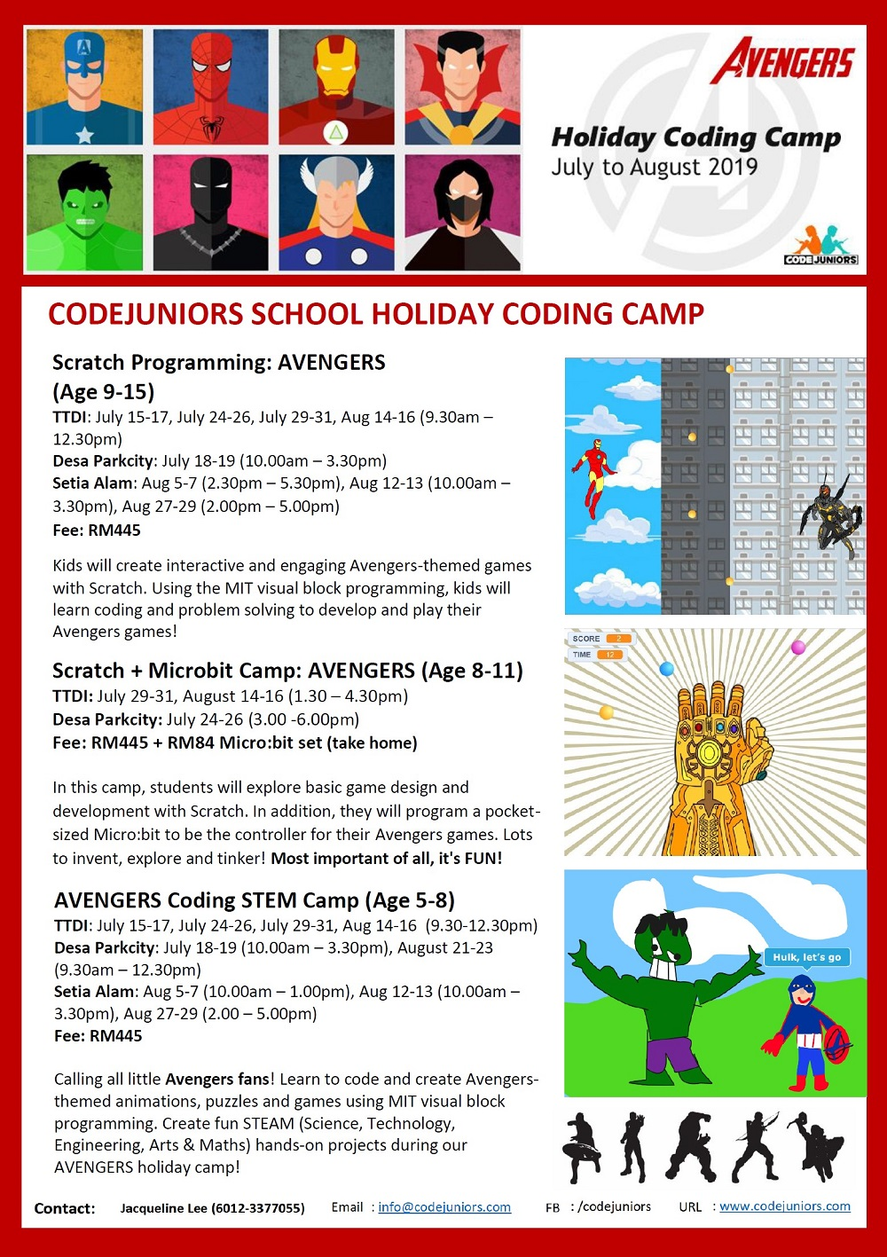 Summer Holiday Coding Camps @ CodeJuniors