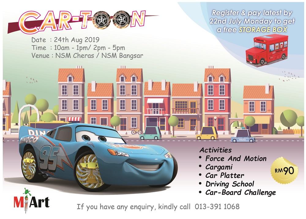 Art & Crafts Workshop: CAR-Toon @ MI Art NSM