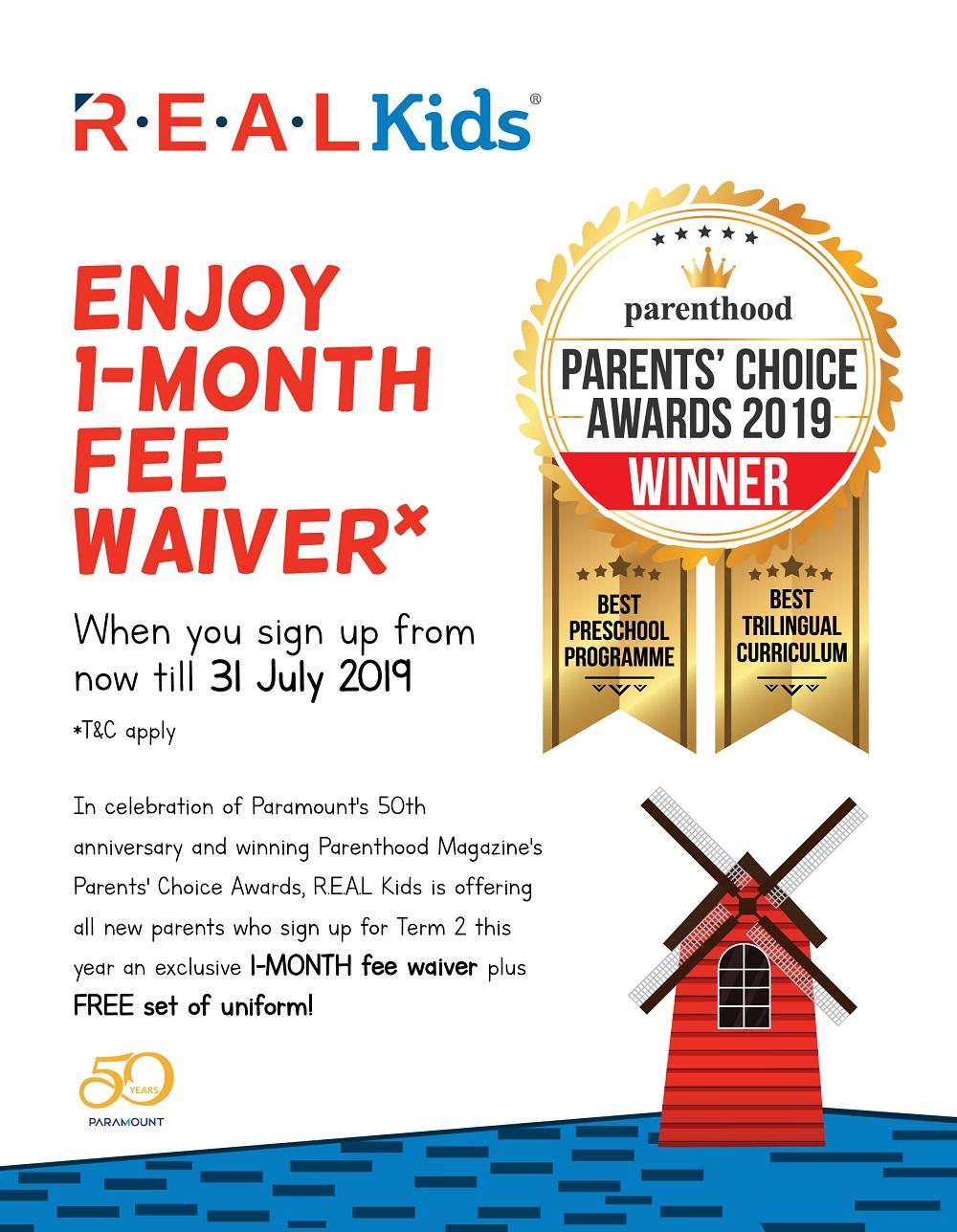 1- Month Fee Waiver @ R.E.A.L Kids, Kemuning Greenhill (Shah Alam)