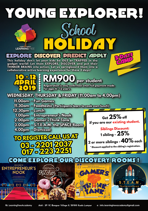 Young Explorer; A School Holiday Program by Learning Tree Academy