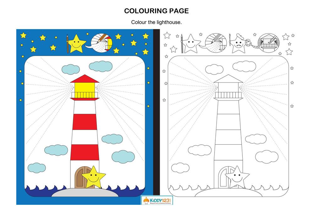 ART & CRAFT - Colour the Lighthouse