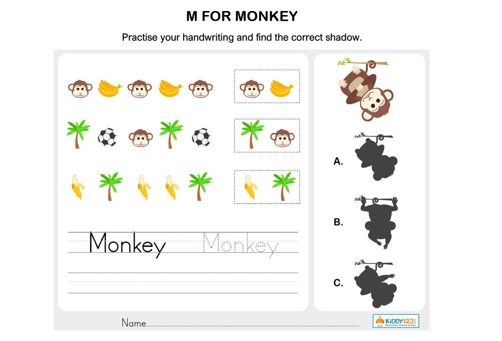 M-for-monkey