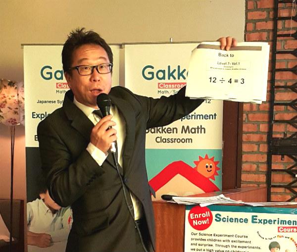 Gakken Education Malaysia Director Yoichi Moriya