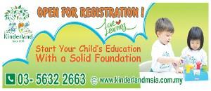 Kinderland Open For Registration