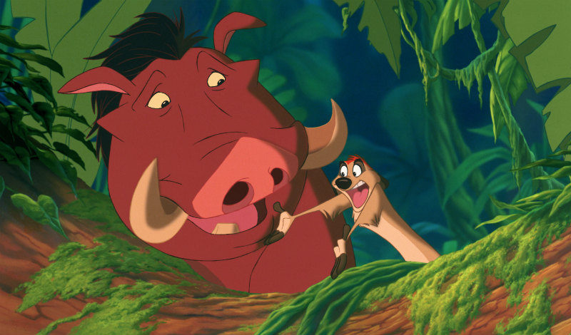 Can you feel love tonight Timon and Pumba