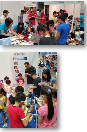 Kiddy123.com Exhibition Booth in Parents and Kids Expo