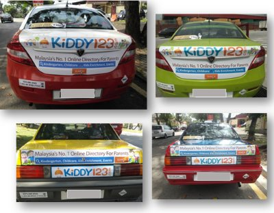 Kiddy123.com Taxi Ads in Klang Valley