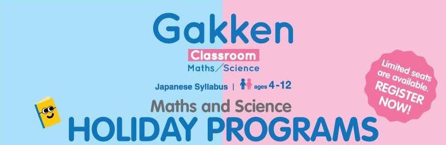 Maths and Science Holiday Programs @ Gakken Classroom