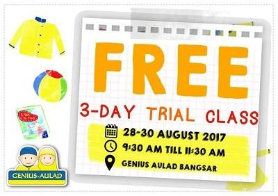 Free 3 Day Trial Classes at Genius Aulad Bangsar
