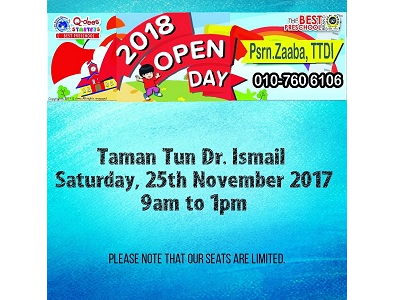 Q-dees Taman Tun Dr Ismail Open Day