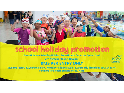 Setia SPICE Aquatic Centre School Holiday Promotion