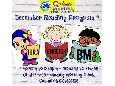 Q-dees TTDI December Reading Program