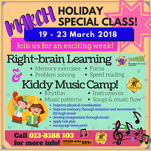 Future Kids Brain Services, USJ21 (You & Me Right Brain Learning) March Holiday Special Class