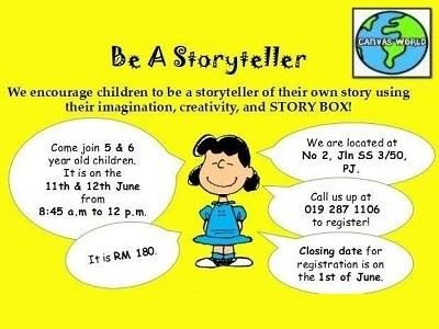 Be A Storyteller @ Canvas World, Petaling Jaya