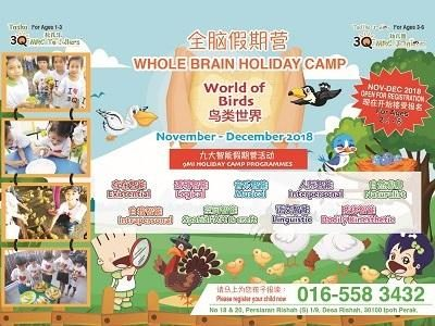 Whole Brain Holiday Camp - World of Birds @ 3Q MRC Junior Menglembu Ipoh (Tadika Junior Mahir)