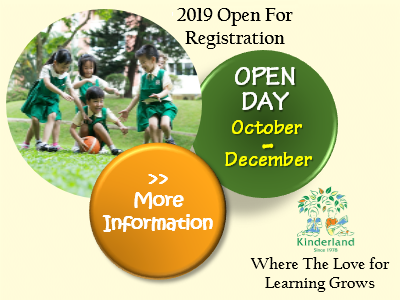 Kinderland Malaysia - 2019 Open for Registration