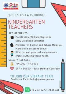 Kindergarten Teachers @ Q-dees USJ 4