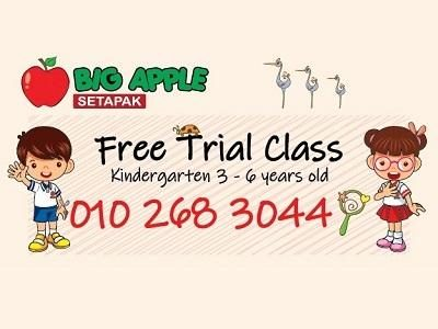 FREE Trial Class @ Tadika Big Apple Setapak