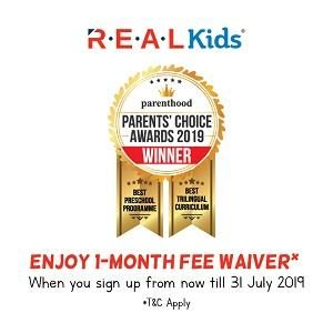 1- Month Fee Waiver @ R.E.A.L Kids