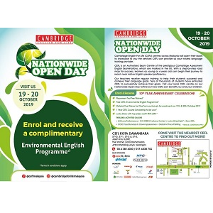 Nationwide Open Day @ Cambridge English For Life (CEFL) - Kota Damansara, Petaling Jaya