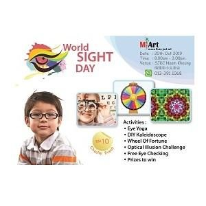 World SIGHT Day @ MI Art (Multiple Intelligences Art), Cheras