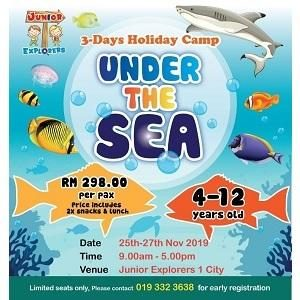 3 Days Under The Sea Holiday Camp @ Junior Explorers, One City, Subang Jaya