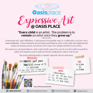 Expressive Art @ Oasis Place - Open for ALL, no age requirement (7 Dec 2019 - 29 Feb 2020)