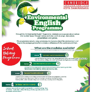 Environmental English Programme @ Cambridge English For Life (CEFL) - Kota Damansara, Petaling Jaya
