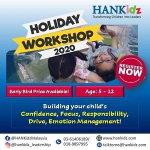 2020 HANKidz School Holiday Workshop (5-12 y/o) @ HANKidz Academy, Kota Damansara