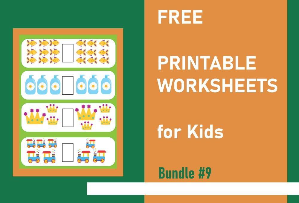 FREE Printable Worksheets for Kids   Bundle #9