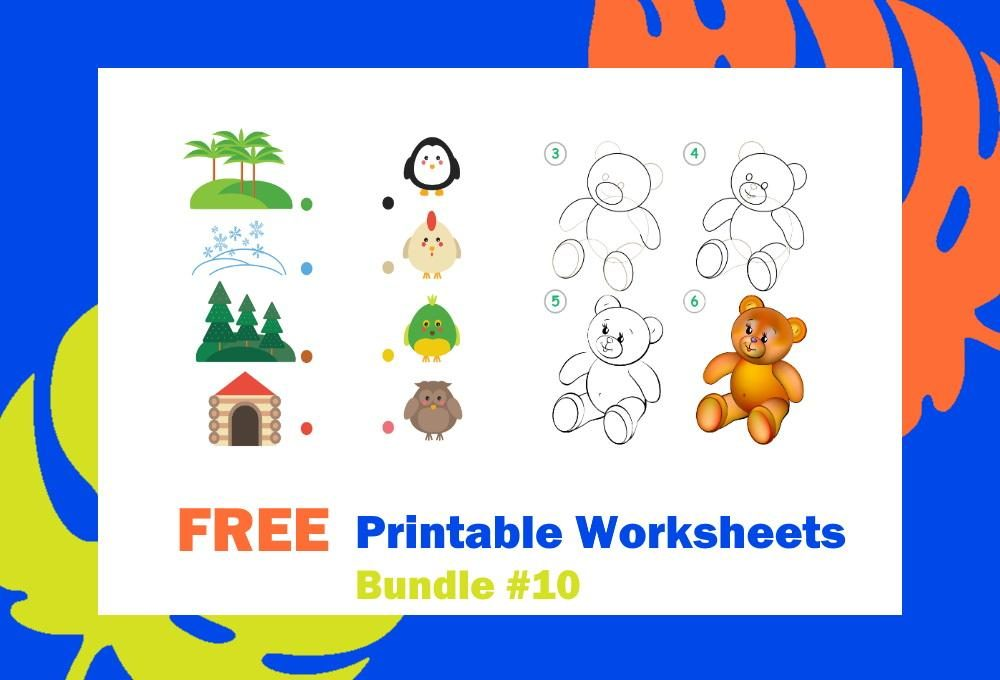FREE Printable Worksheets for Kids | Bundle #10