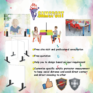 Free Site Visit and Consultation from SamSport (Acylic Protectors for Preschools)