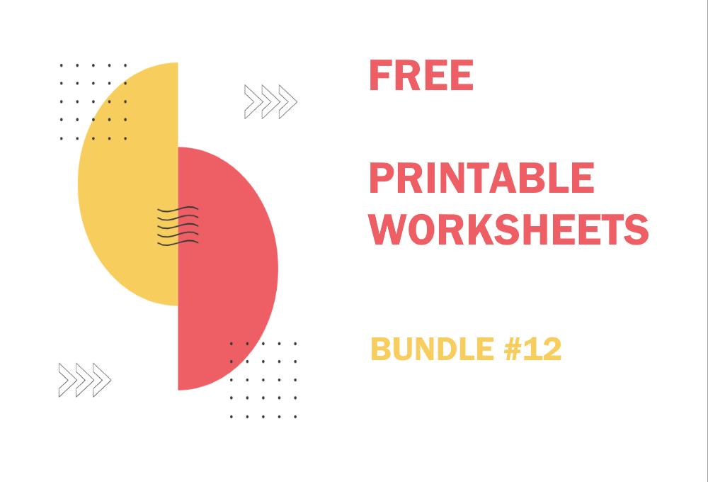 FREE Printable Worksheets for Kids | Bundle #12