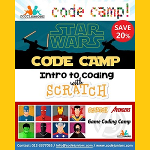 ONLINE School Holiday Coding Camp (July - August 2020) @ CodeJuniors