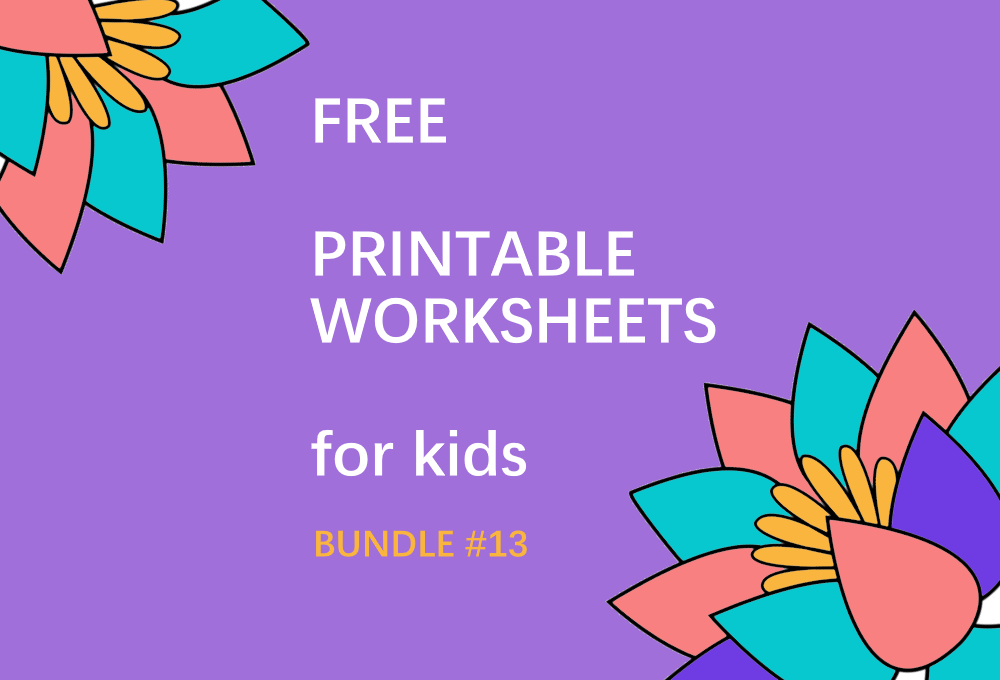 FREE Printable Worksheets for Kids | Bundle #13