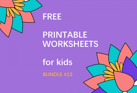 FREE Printable Worksheets for Kids | Bundle #13