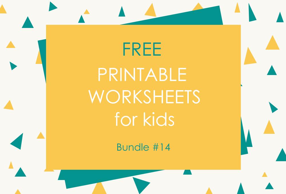 FREE Printable Worksheets for Kids | Bundle #14