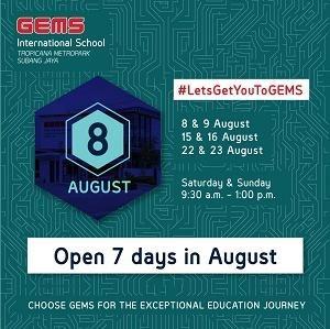Open Weekend @ GEMS International School, Tropicana Metropark, Subang Jaya