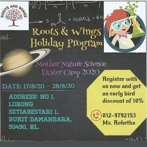 Holiday Programs @ Roots & Wings Montessori Preschool, Damansara Heights