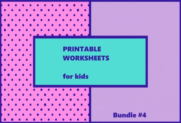 Printable Worksheets Bundle #4