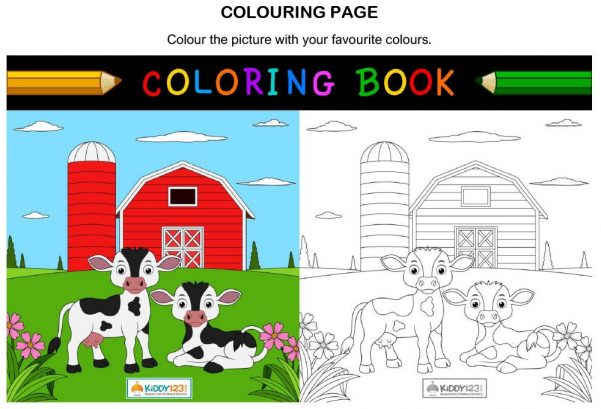 ART - Colouring page barn