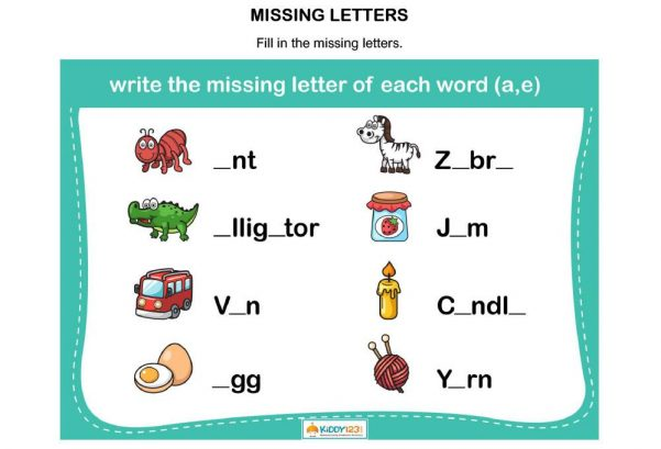 LANGUAGE - Missing letters A & E