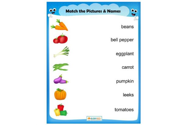 LANGUAGE - Match the Vegetables