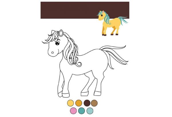 ART - Colouring Page Pony