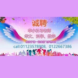 Primary School Tuition Teacher (BC/Science/Math) @ Bright Star Chinese Education