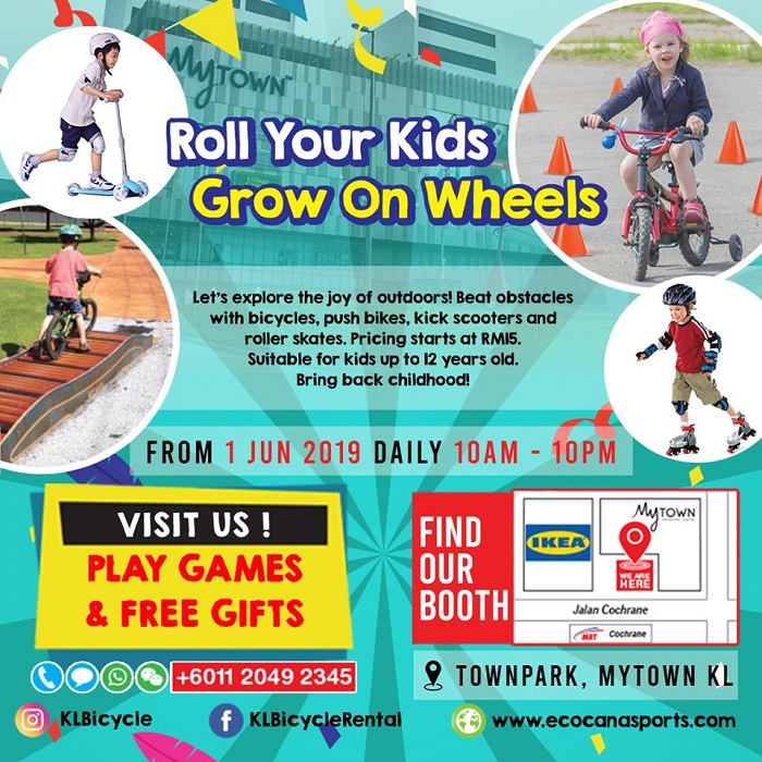 Roll your kids; Grow on wheels