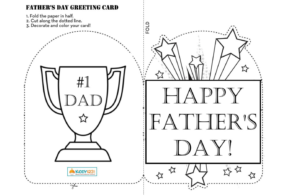 ART & CRAFT - Father's Day Greeting Card