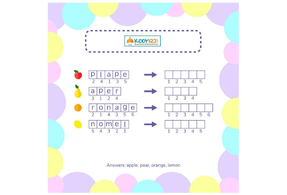 worksheet language